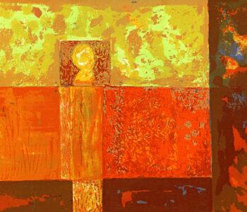 Konstnär Anne Vilsbøll. Konstverk benämning AV4 'Template IV' litografi, 38x28,5 cm, upplaga 250. Våga Se - Konst