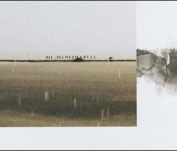 Konstnär Bent Holstein. Konstverk benämning BH1 'Utan titel 1', blandteknik, 23,5x46,5 cm. Våga Se - Konst