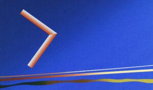 Konstnär Curt Hillfon. Konstverk benämning CH5 'Tonresa', seriegrafi, 50x30 cm, upplaga 295. Våga Se - Konst.