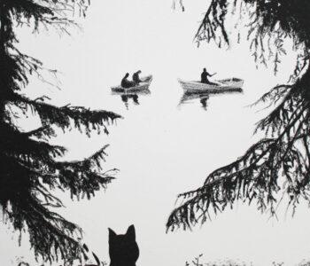 Erik Kihlbaum konstnär - konstverk SvartKatt4 - Våga Se Konst