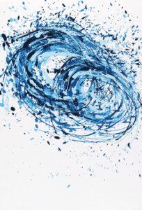 Konstnär Giuseppe Scaiola. Konstverk benämning GISC3 'Utan titel 3', serigrafi, 34,5x49,5 cm, upplaga 295. Våga Se - Konst