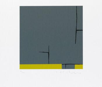 Konstnär Håkan Berg. konstverk benämning HB3 'Utan titel 3', serigrafi, pappersmått: 45x39cm, bildmått: 24x24 cm, upplaga 295. Våga Se - Konst