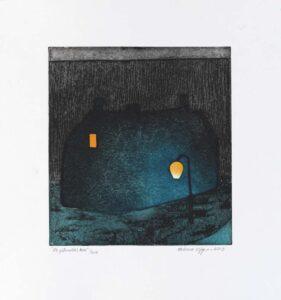 Helena Elfgren konstnär - Konstverk 6 De glîmdas hus - Våga Se Konst