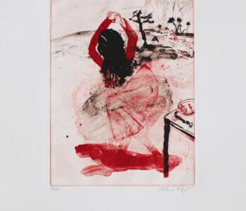 Helene Billgren konstnär - konstverk röddans - Våga Se Konst
