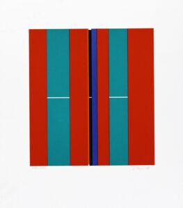 Konstnär Ilkka Pärni. Konstverk benämning IP2 'Utan titel 2', litografi, pappersmått: 34x30 cm, bildmått: 22x20 cm, upplaga 295. Våga Se - Konst.