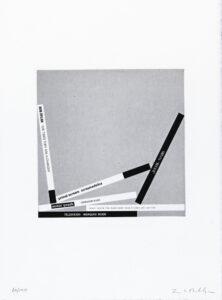 Konstnär Jacob Dahlgren. Konstverk benämning JD4 'Utan titel 4', fotogravyr, pappersmått: 36,5x27 cm, bildmått: 18x18 cm, upplaga 295. Våga Se - Konst