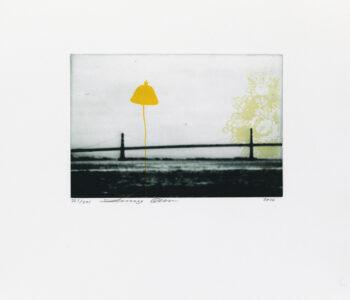 Konstnär Jenny Olsson. Konstverk benämning JO5 'Utan titel 5', FP-gravyr/serigrafi, pappersmått: 39x36 cm, upplaga 295. Våga Se - Konst