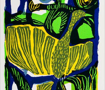 Konstnär Lis Gram. Konstverk benämning LIGR1 'Fabeldjur 1', litografi, 29x38 cm, upplaga 295 - Våga Se - Konst