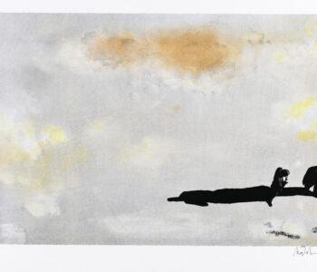 """Mats Pehrson konstnär - konstverk Benämning MP3 """"Contemplation 3"""", litografi, 43x30 cm, upplaga 295"""