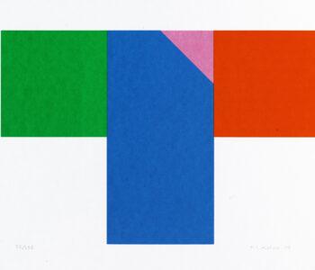 Konstnär Nils Kölare. Konstverk benämning NIKÖ3 'Ängel 3', serigrafi, 28×36 cm, upplaga 295. Våga Se - Konst