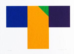 Konstnär Nils Kölare. Konstverk benämning NIKÖ5 'Ängel 5', serigrafi, 28×36 cm, upplaga 295. Våga Se - Konst