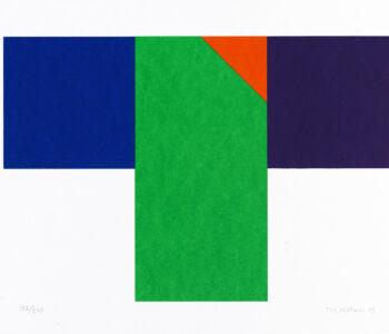Konstnär Nils Kölare. Konstverk benämning NIKÖ1 'Ängel 1', serigrafi, 28×36 cm, upplaga 295. Våga Se - Konst