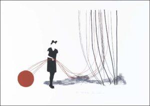 Nina Kerola konstnär - konstverk 1 Rîda TrÜdar - Våga Se Konst