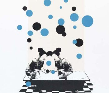Konstnär Nina Kerola. Konstverk benämning NKE2 'Badbollar', serigrafi, 35x50 cm, upplaga 295. Våga Se - Konst