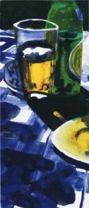 """Peter Sternäng. Benämning PEST5 """"Utan titel 5"""", litografi, pappersmått: 28×42,5 cm, bildmått: 15×35 cm, upplaga 295"""