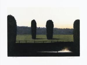 Konstnär Ulf Wahlberg. Konstverk benämning ULWA3 'Utan titel 3', litografi, pappersmått: 30×40 cm, bildmått: 23x33 cm, upplaga 295. Våga Se - Konst