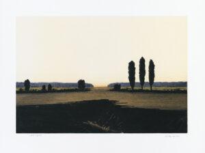 Konstnär Ulf Wahlberg. Konstverk benämning ULWA4 'Utan titel 4', litografi, pappersmått: 30×40 cm, bildmått: 23×33 cm, upplaga 295. Våga Se - Konst