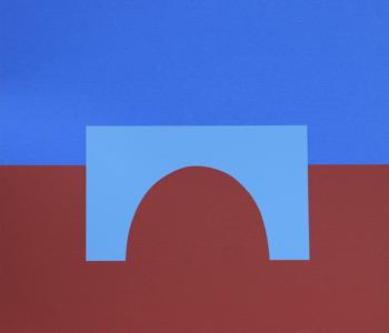 Konstnär KG Nilsson. Konstverk benämning KGNI4 'Utan titel 4', litografi, pappersmått: 40×38, bildmått 30×30, upplaga 295. Våga Se - Konst