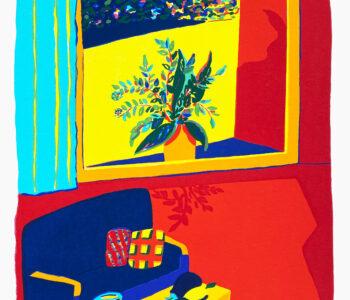 Välj verk av konstnären Susan Gillhög, Benämning: SG3 Kuddlek Serigrafi, 50x35 cm, upplaga 250. Ingår i varje medlemskap i Våga Se - Konst.