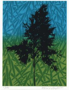 Konstnär Arnold Hagstöm. Konstverk benämning ANHA2 'Utan titel 2', serigrafi, pappersmått: 35x27,5 cm, bildmått: 20x15 cm, upplaga 295. Våga Se - Konst