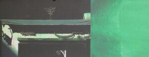 Konstnär Bent Holstein. Konstverk benämning BH3 'Utan titel 2', blandteknik, 23,5x46,5 cm. Våga Se - Konst