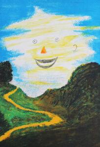Konstnär Carl Johan De Geer. Konstverk benämning CJDG 2 'Det försämrade molnet', litografi, 30x43 cm, upplaga 295 - Våga Se - Konst