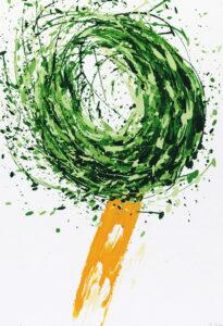 Konstnär Giuseppe Scaiola. Konstverk benämning GISC4 'Utan titel 4', serigrafi, 34,5x49,5 cm, upplaga 295. Våga Se - Konst