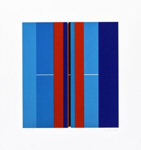 Konstnär Ilkka Pärni. Konstverk benämning IP3 'Utan titel 3', litografi, pappersmått: 34x30 cm, bildmått: 22x20 cm, upplaga 295. Våga Se - Konst
