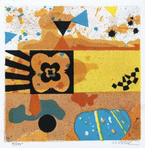 Konstnär Jan Wessel. Konstverk benämning JW5 'My private space', stenlitografi, 25,5x25,5 cm, upplaga 295. Våga Se - Konst