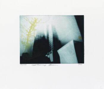 Konstnär Jenny Olsson. Konstverk benämning JO1 'Utan titel 1', FP-gravyr/serigrafi, pappersmått: 39x36 cm, upplaga 295. Våga Se - Konst