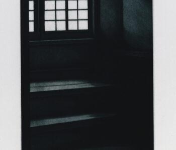 Konstnär Jukka Vänttinen. Konstverk benämning JUVÄ3 'Motväg', mezzotint, pappersmått: 26x36cm, upplaga 295. Våga Se - Konst