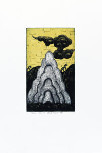 Konstnär Nils G Stenqvist. Konstverk benämning NGS5 'Utan titel 5', litografi, pappersmått: 39x27 cm, bildmått: 20x12 cm, upplaga 295. Våga Se - Konst