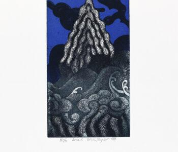 Konstnär Nils G Stenqvist. Konstverk benämning NGS1 'Utan titel 1', litografi, pappersmått: 39x27 cm, bildmått: 20x12 cm, upplaga 295. Våga Se - Konst