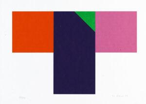 Konstnär Nils Kölare. Konstverk benämning NIKÖ6 'Ängel 6', serigrafi, 28×36 cm, upplaga 295. Våga Se - Konst