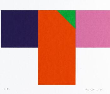 Konstnär Nils Kölare. Konstverk benämning NIKÖ4 'Ängel 4', serigrafi, 28×36 cm, upplaga 295. Våga Se - Konst