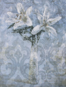 Yngve Brothén konstnär. Konstverk Benämning: YB2 'Minne av en sommar II', litografi 29×37,5 cm, upplaga 250. Våga Se - Konst