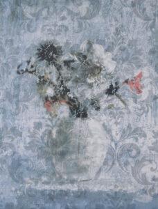 Konstnär Yngve Brothén. Konstverk benämning: YB4 'Minne av en sommar IIII', litografi, 29×37,5 cm, upplaga 250. Våga Se - Konst
