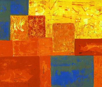 Konstnär Anne Vilsbøll. Konstverk benämning AV2 'Template II', litografi, 30×37 cm, upplaga 250. Våga Se - Konst
