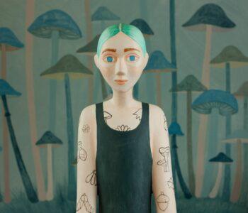 Bild från Sara Nilssons utställning på Galleri Thomassen i Göteborg, våren 2021. Konstföreningen våga se konst
